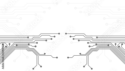 Circuit Board Technology Information Pattern Concept Vector