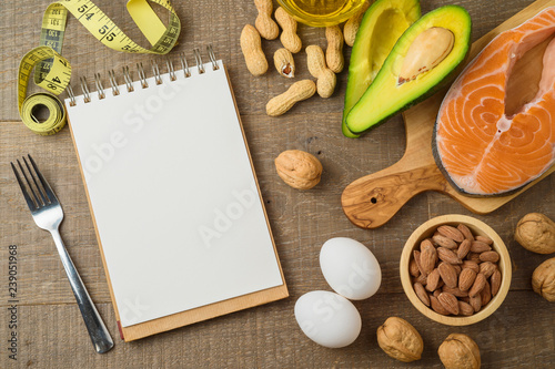 Photo  Ketogenic low carbs diet concept