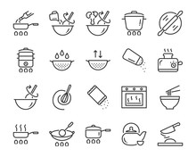 Set Of Cooking Icons, Such As ...