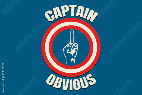 Captain Obvious vintage Canvas Print