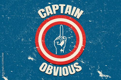 Captain Obvious vintage Wallpaper Mural