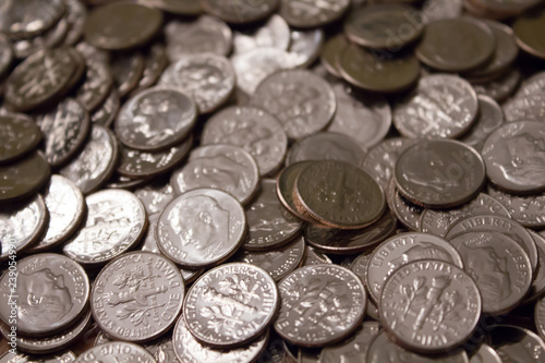 Photo  Pile of dimes
