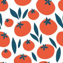 Tomato Vector Seamless Pattern
