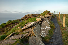 Hiking Trail At Cliffs Of Moher