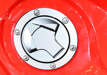 Red Fuel Tank Door Of Sport Motorcycle