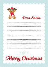 Cartoon Letter To Santa With C...
