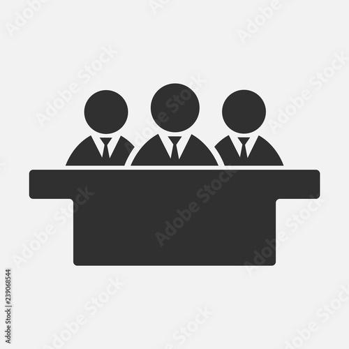 Fotografie, Obraz  Jurors icon isolated on white background. Vector illustration.