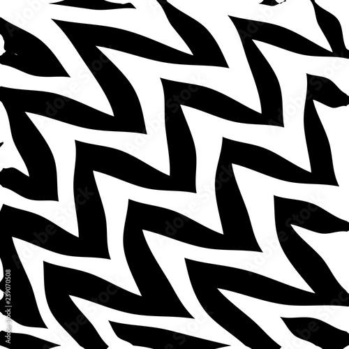 Photo Geometric Simple Zigzag Print, Wave Pattern