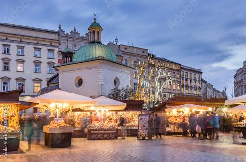 Plakat Polskie miasta   krakow-poland-main-market-square-and-christmas-fairs