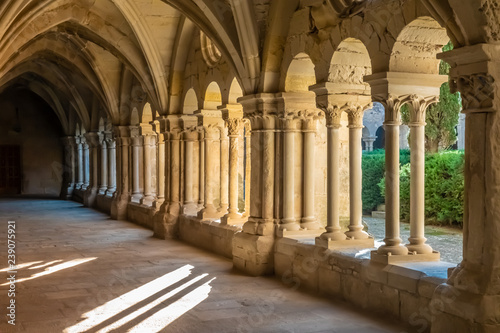 Photo The Monastery of Santa Maria de Vallbona (Vallbona de les Monges), the only female monastery of the cistercian route in Catalonia preserving the monastic life since the XII
