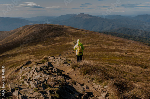 Valokuvatapetti Beautiful mountains in Poland - Bieszczady