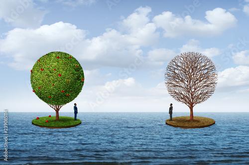 Obraz na plátně Prosperity And Poverty