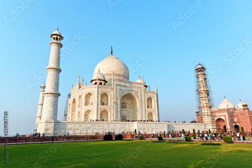 Fotografie, Obraz  Front view of Taj Mahal in India