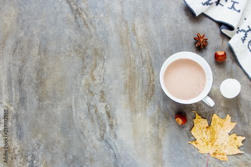 Foto auf Leinwand Schokolade Autumn, fall concept.