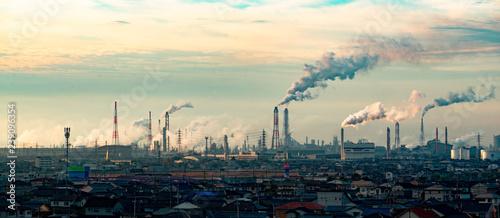 Obraz 工業地帯 - fototapety do salonu