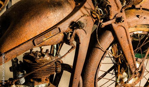 Aluminium Prints Bicycle Motorbike Restoration