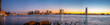 Panoramic View of The East River At Night With Downtown Long Island in the Background