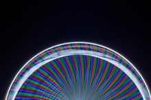 Ferris Wheel With Long Exposure