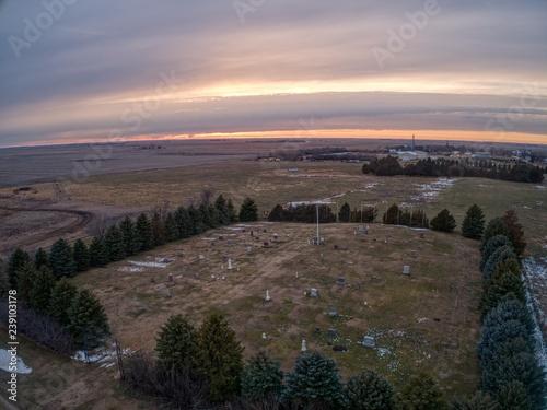 Fotografie, Obraz  Turtson, South Dakota is a small Farming Town