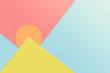 Leinwanddruck Bild - abstract pastel colourful minimalism for background