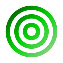 Target Sign - Green Gradient Transparent, Isolated - Vector