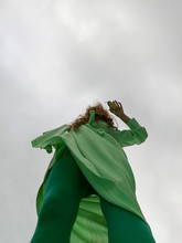 Stormy Day Green Girl