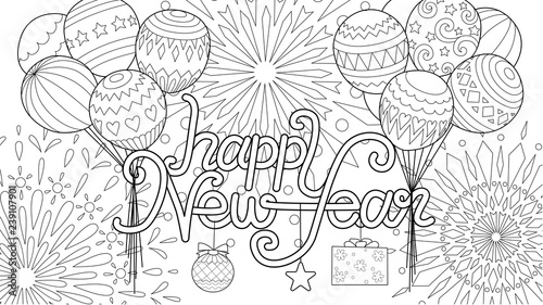 Free Printable New Years Coloring Pages For Kids | New year ... | 281x500