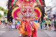 Leinwanddruck Bild - Colorful smiling mask of Masskara Festival, Bacolod City, Philippines