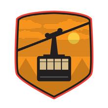 Mountain Cable Car Logo, Icon Or Symbol