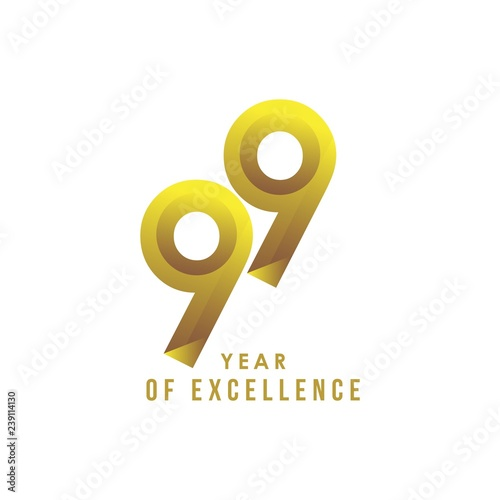 Photographie  99 Year of Excellence Vector Template Design Illustration