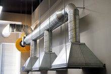 An Example Of Installing Exhaust Ventilation Over A Workplace In An Industrial Area
