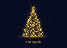 Golden Sparkles Christmas Tree...