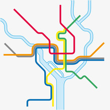 Metro Map Of Washington DC, Un...