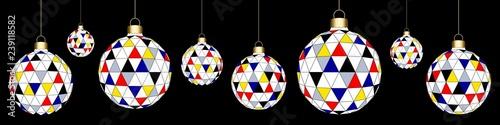 Photo  Banner. Christmas' balls