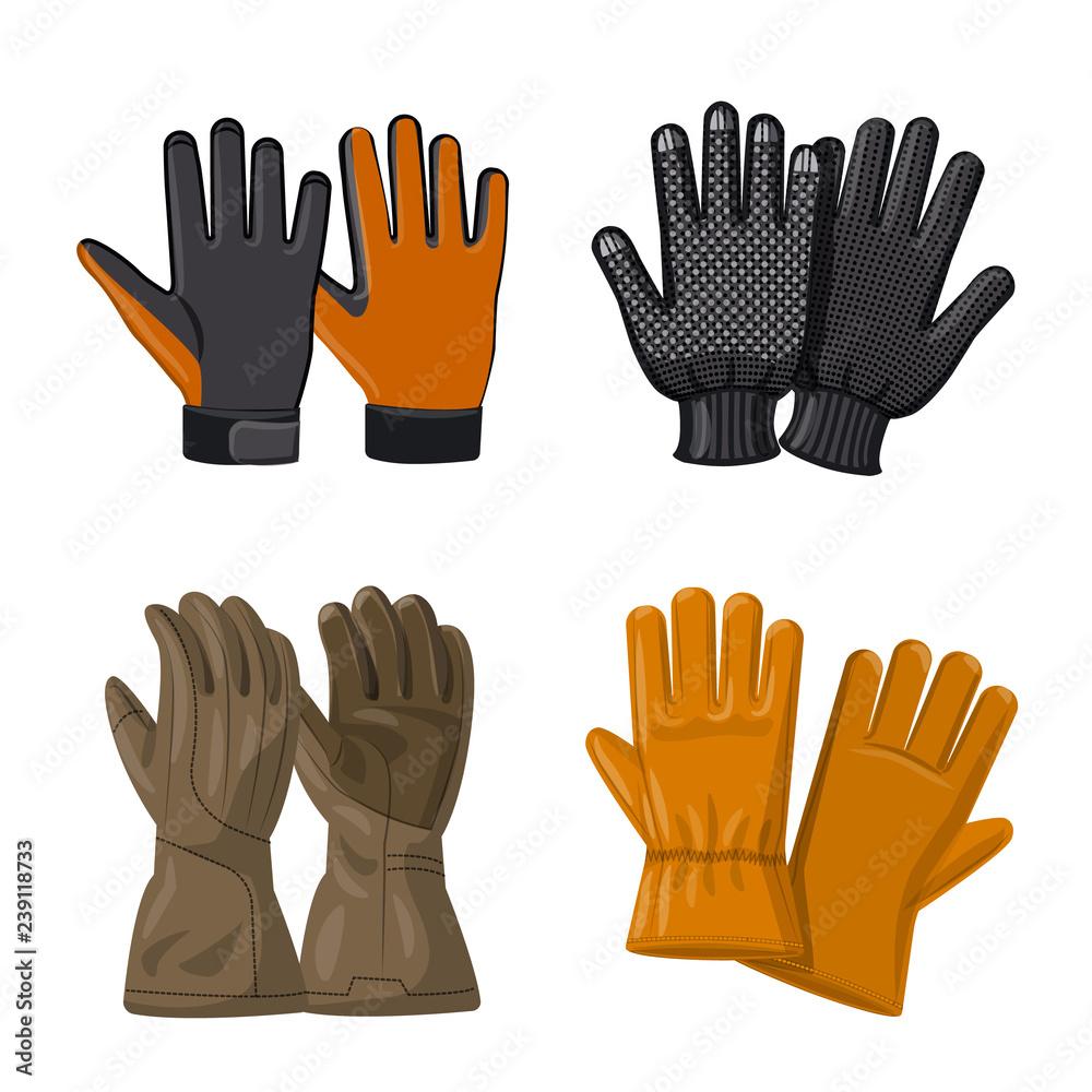 Valokuva Isolated object of glove and winter symbol