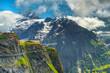 Amazing panorama and First mountain station, Grindelwald, Switzerland, Europe