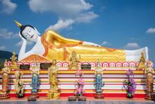 Buddha Statue  (Thai: Luang Por Tan Jai ) In Wat Phra Tat Doi Kum, The Buddhist Temple In Chiang Mai, Northern Thailand