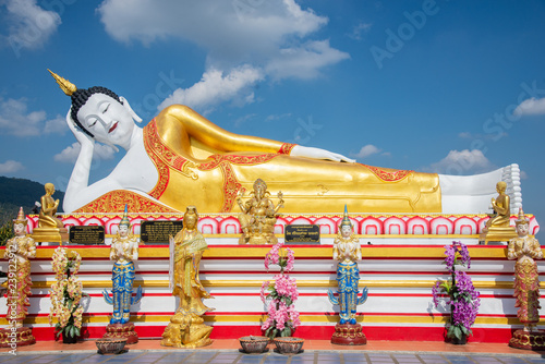 Buddha statue  (Thai: Luang Por Tan Jai ) in Wat Phra Tat Doi Kum, The Buddhist temple in Chiang Mai, northern Thailand