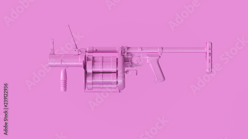Pink Grenade Launcher 3d Illustration 3d Rendering Canvas Print
