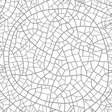 Craquelure On The Surface Seamless Pattern