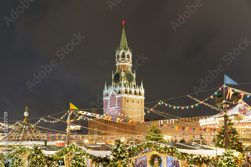 Decoration of the Moscow Red Square at last days of 2018 year Wallpaper Mural