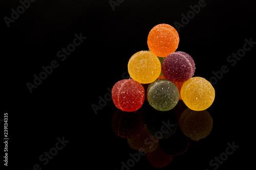 Tablou Canvas Gumdrops, Colorful Fruit Sugarcoated Marmalade balls