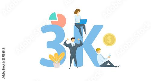 Fotografering  3K likes, followers online social media banner