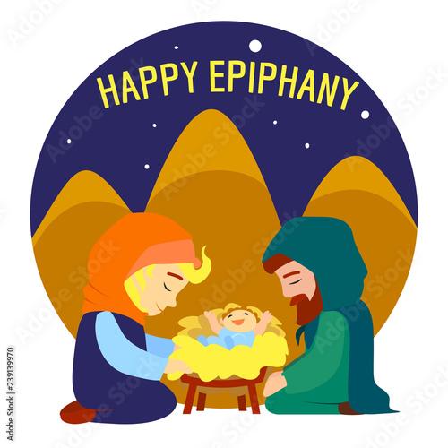 Happy epiphany Jesus birth concept background Fototapete