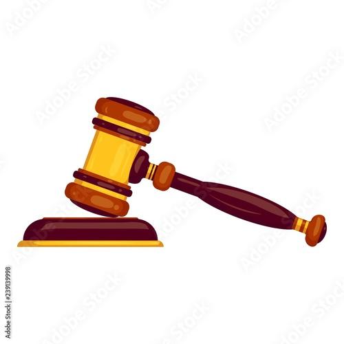 Judge hammer icon Fototapeta