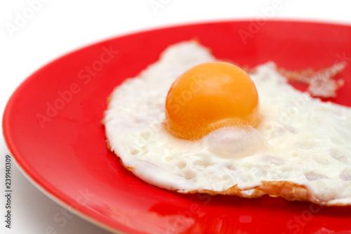Fotografía  frying a frozen egg
