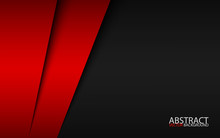 Black And Red Modern Material Design, Corporate Template For Your Business, Vector Abstract Widescreen Background