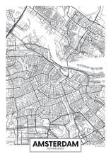City Map Amsterdam, Travel Vec...