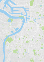 City Map Antwerp, Color Detailed Plan, Vector Illustration