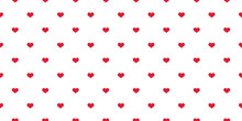Heart Seamless Pattern Valentine Vector Love Cartoon Scarf Isolated Illustration Tile Background Repeat Wallpaper